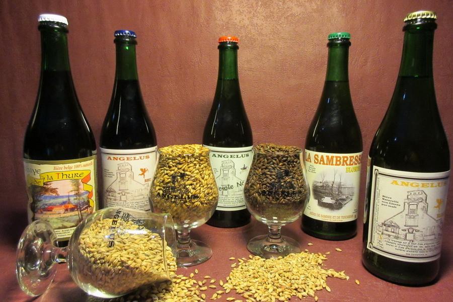 Bières les valeurs sures Angélus blonde, Angélus brune, Angélus spéciale Noël, la Sambresse et l' Abbaye de la Thure